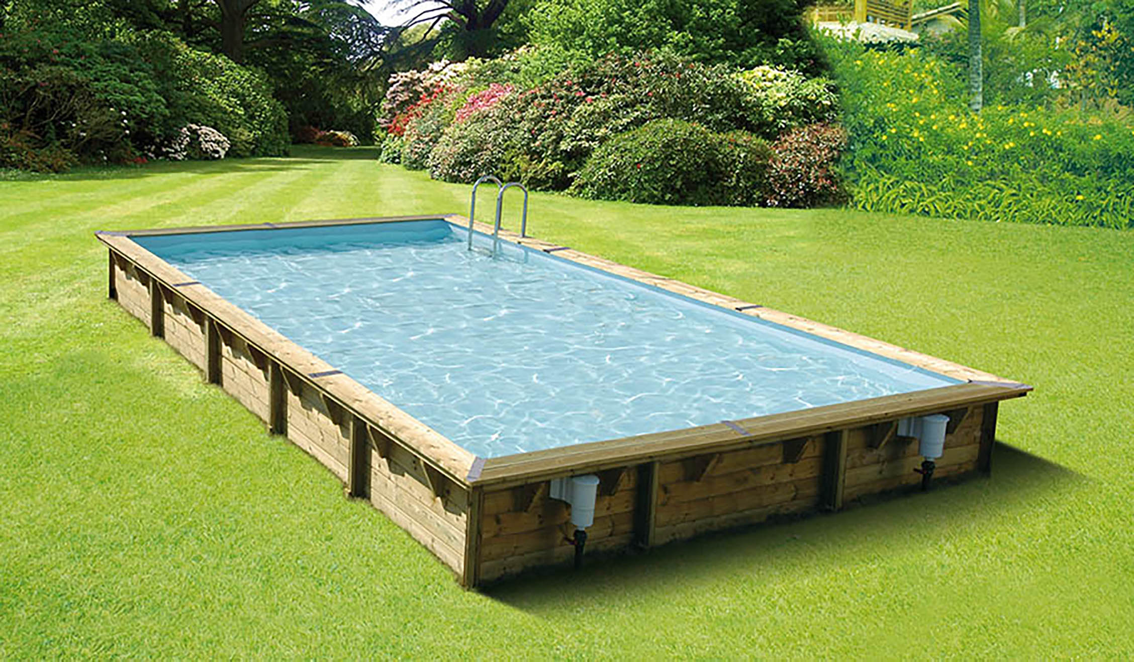Amenagement piscine bois hors sol id es for Piscine hexagonale bois